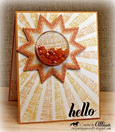 Rocky Mountain Paper Crafts: Papercraft Star-Let the Sun Shine! Sun Shine, Summer Crafts, Stamping, Embellishments, Card Ideas, Mountain, Scrapbooking, Gift Wrapping, Crafty