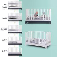 Mitwachsendes Babybett / Kinderbett / Juniorbett NAVY, 70x140cm, 0-6 Jahre