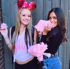Besties and cotton candy