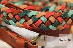 Sessùn. 100% braided leather belt.