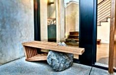 OUTDOORS BENCH: Bedrock bench by CM