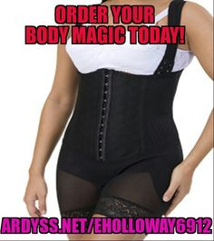 Ladies..let's finish the year on a positive. Order you body reshapers today. Special offer if you contact me today or tomorrow with your order between 2 pm pst and 5 pm pst.  Ardyss.net/eholloway6912