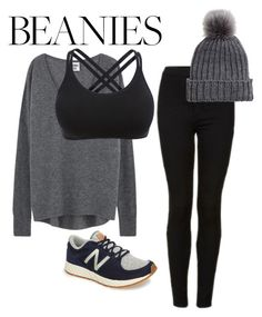"""""""Grays"""" by charisse-bellen ❤ liked on Polyvore featuring Topshop and New Balance"""