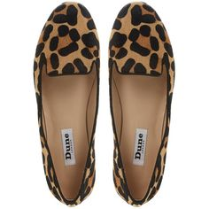 Dune Limbo Loafers, Leopard ($45) ❤ liked on Polyvore featuring shoes, loafers, flats, sapatos, zapatos, black flat shoes, black brogues, brogue shoes, loafer flats and leopard shoes