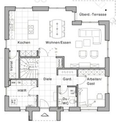 Viebrockhaus Edition 925 Viebrockhaus Edition 925 The post Viebrockhaus Edition 925 appeared first on Esszimmer ideen. Dream House Plans, House Floor Plans, Small Villa, Apartment Checklist, First Apartment, Home Design Plans, House Layouts, Architecture Plan, Interior Design Living Room