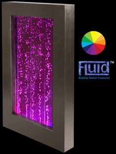 Bubble Water Wall Color Changing LED Lights Fountain Feature Indoor 3 039 4 034 New