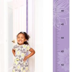 Patent Pending Mom Approved Flower Girl PeekaBoo Growth Charts Track & Measure your Kid's Height. Fits in Standard Door Jamb, Removable & Reusable, Self-Adhesive [72 x 1.25 Inches] available on Etsy, Amazon, Ebay and www.momapproved.net