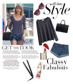 """""""Get The Look: Taylor Swift"""" by maymayhope ❤ liked on Polyvore featuring WithChic, Zara, Alexander McQueen, Louis Vuitton, Kate Spade, Lipstick Queen and Clarins"""