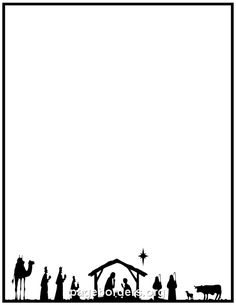 Nativity Border: Clip Art, Page Border, and Vector Graphics