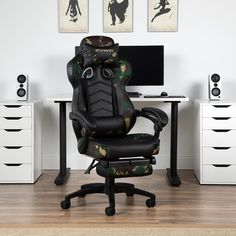 Respawn 110 Racing Style Reclining Gaming Chair with Footrest - On Sale - Overstock - 22848763 - Black Gaming Furniture, Gaming Chair, Office Furniture, Luxury Office Chairs, Rolling Office Chair, Seat Covers For Chairs, Gamer Room, Ergonomic Chair, Online Furniture Stores