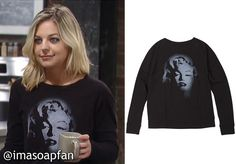 Maxie Jones's Black Marilyn Monroe Graphic Tee - General Hospital
