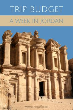 Trip budget with cost breakdown for a week in Jordan, visiting Petra, Amman and the Dead Sea #Jordan #costs #budget