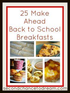25 Make Ahead Breakfast Ideas