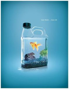 I have chose this Ads because of design and color too, and to deliver the message that save water is very importance for everyone.