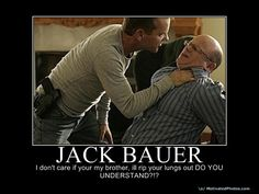 Fictional details at this link on fictional hero, Jack Bauer.  Love it.