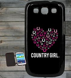 Country Girl ® Horseshoe Heart Samsung Galaxy S3 Phone Case/Cover
