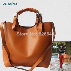 Vintage Tote Handbag Genuine Leather Brown Medium Bolsas Femininas 2014 Trendy Ladies Female Shopper Bag Women Sac A Main
