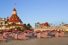 Anyone (hotel guest or not) can enjoy the Hotel Del Coronado's beach rentals. via @lajollamom