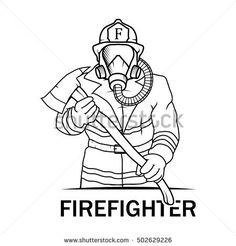 Image result for firefighter in child silhouette