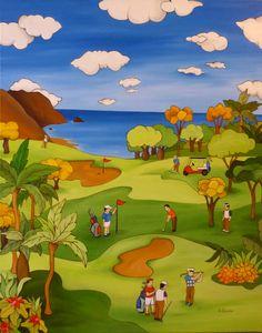 campo de golf  92x73 cms  Óleo sobre lienzo