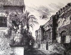 Gyulai Líviusz: A Cordobai mecset éjjel Painting, Art, Art Background, Painting Art, Kunst, Paintings, Performing Arts, Painted Canvas, Drawings