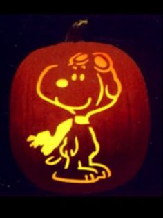 CARVED SNOOPY PUMPKIN