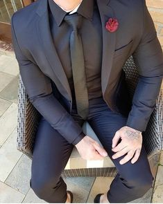 blazer outfits men, men dress up, Dress Suits For Men, Men Dress, Black Suit Men, All Black Tux, Blazer Outfits Men, Designer Suits For Men, Look Man, Mens Fashion Suits, Men's Fashion