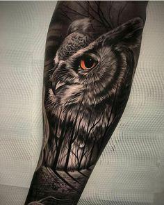 Tattoo owl from de owl tattoo design, tattoo designs, animal tattoos, wolf tattoos Wolf Tattoos, Forearm Tattoos, Animal Tattoos, Body Art Tattoos, Sleeve Tattoos, Circle Tattoos, Fish Tattoos, Tatoos, Owl Tattoo Design