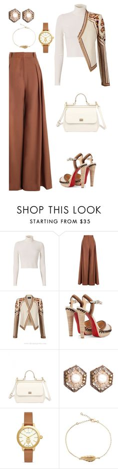 """""""Untitled #804"""" by sajairaq ❤ liked on Polyvore featuring A.L.C., Zimmermann, BCBGMAXAZRIA, Christian Louboutin, Dolce&Gabbana, Suzanna Dai and Tory Burch"""