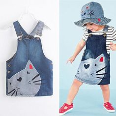 Summer Toddler Baby Girls Denim Dress Jeans Kid Overall Dress Clothes Size in Clothing, Shoes Accessories, Baby Toddler Clothing, Girls Clothing Little Girl Dresses, Girls Dresses, Cat Dresses, Cute Baby Dresses, Lovely Dresses, Denim Fashion, Kids Fashion, Dress Fashion, Fashion 2016