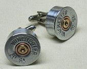 Shotgun Shell Cufflinks Winchester 12 Gauge by BulletCufflinks for @Dan Uyemura Huber