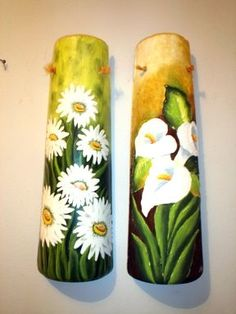 pintar telha - Google Search Pvc Pipe, Fabric Painting, Pillar Candles, Origami, Projects To Try, Arts And Crafts, Wall Art, Gifts, Inspiration