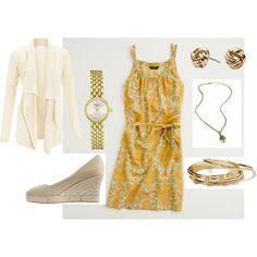 J Crew Mustard Dress :)