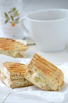 Creamy white chicken grilled cheese