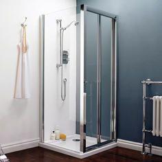 Pacific Bi-Fold Shower Door & Side Panel Shower Enclosure 700mm x 760mm now £247.00