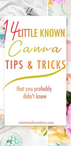 14 Little Known Canva Tips & Tricks - Mints And Numbers - Here is a list of 14 secret Canva tips and tricks that I found after months of using and creating w - Graphic Design Tools, Web Design, Business Tips, Business Marketing, Content Marketing, Marketing Guru, Insurance Marketing, Marketing Strategies, Media Marketing