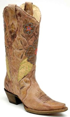 a killer pair of cowboy boots! (preferably brown ones with pink in them)