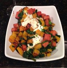 Golden beet, Spam & spinach hash!  Delicious!