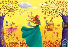 Illustration by Mila Marquis Art And Illustration, Illustrations, Marie Cardouat, Art Amour, Art Fantaisiste, Anne Geddes, Heart Art, Whimsical Art, Love Art