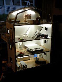 Valot uudella tekniikalla, LED valonauhan käyttö nukketaloissa #nukkekoti #valaistus #mini #ohjeet