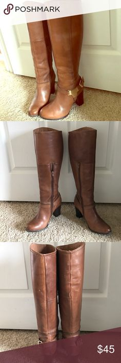 Camel Brown Boots ALDO knee high boots. Aldo Shoes Heeled Boots