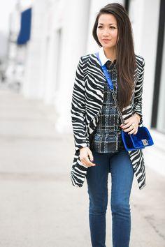 Wendy Nguyen :: Vince Camuto coat, Sea top, Goldsign jeans, Saint Laurent shoes, Chanel bag