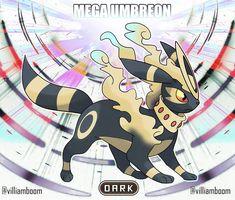 Mega Umbreon by by Villiam Boom ( Pokemon Fake, Pokemon Fusion Art, Pokemon Oc, Pokemon Eeveelutions, Pokemon People, Eevee Evolutions, Black Pokemon, Pokemon Fan Art, Cool Pokemon