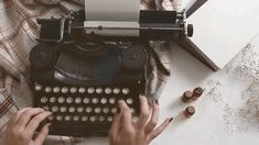 aesthetic gif typewriter discovered by aria on We Heart It Brown Aesthetic, Aesthetic Gif, Aesthetic Vintage, Aesthetic Photo, Aesthetic Writing, Trigger Happy Havoc, You're Beautiful, Gifs, Wells