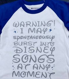 Warning I May Spontaneously Burst Into Disney by EmmaAlyseDesigns