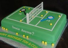 Birthday Ideas For Dad 63 Ideas For 2019 Dad Birthday Cakes, Birthday Cakes For Women, 6th Birthday Parties, Tennis Cake, Tennis Party, Tennis Cupcakes, Soccer Party, Volleyball Cakes, Cake By The Pound