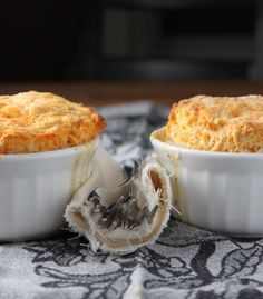 Vegetable pot pies topped with sweet potato biscuits ... these look heavenly. Originally discovered via Gojee.