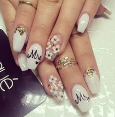 Mr&Mrs Nail Design - wedding nail art