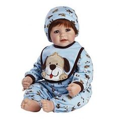 2020928 Features: -Baby doll. -Friendly appliquéd dog looks so real it almost jumps off the bib. -So cute in his all-in-one comfy jersey knit puppy print PJ's. -With a blue bib trimmed in brown with the happy puppy on the front. Product Type: -Collector Dolls. Age Range: -5 To 7 Years/8 To 11 Years/12 Years […]