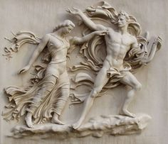 Arno Breker - Orpheus and Eurydice, a relief from, 1944.